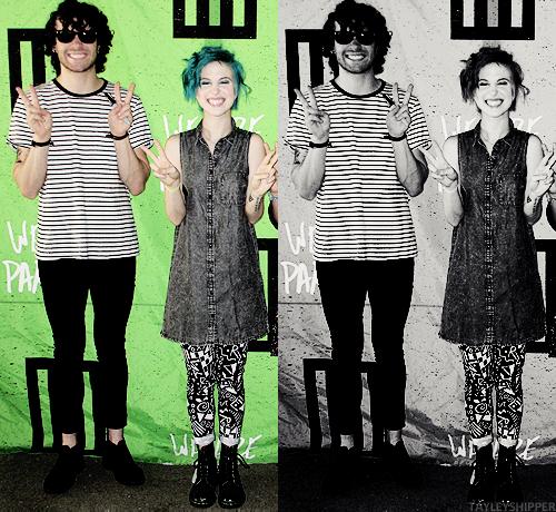 Hayley looks like a little stuffed animal and Taylor looks like a happy little kid