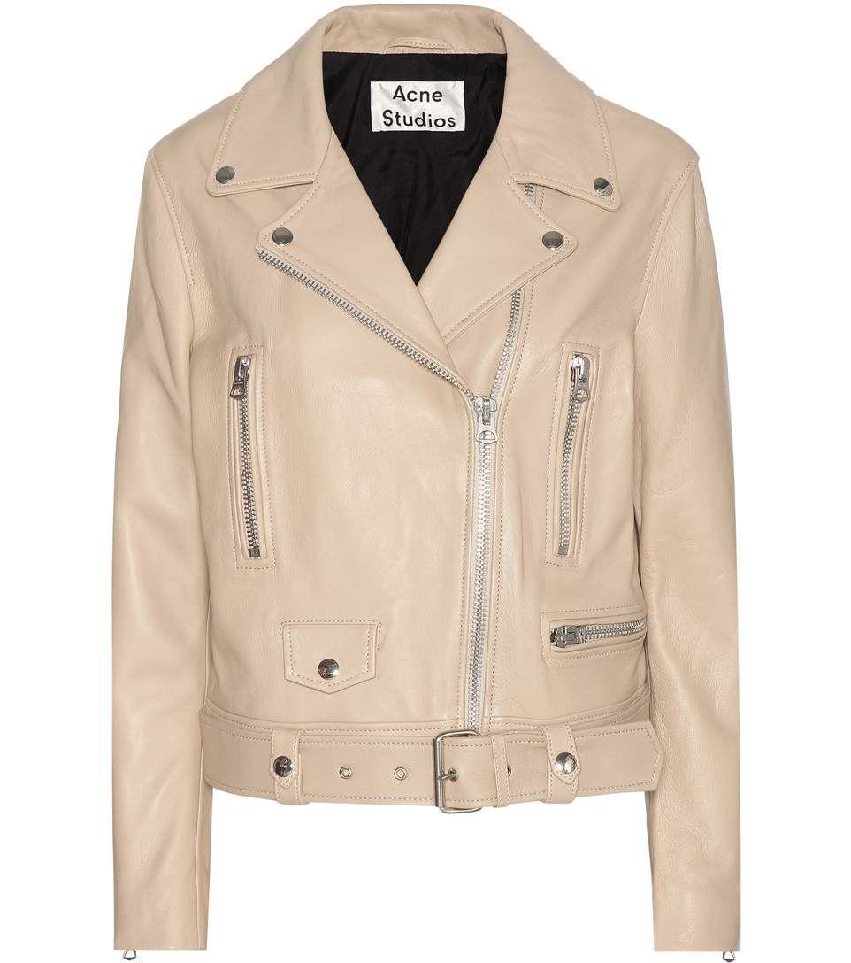 Acne Studios Perfecto More en cuir beige Mode Femme, Accessoires, Vestes En  Cuir, f9367d61246