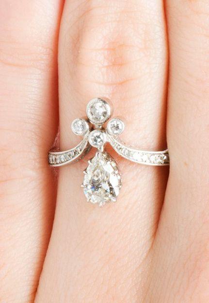 Antique Tiara Diamond Ring