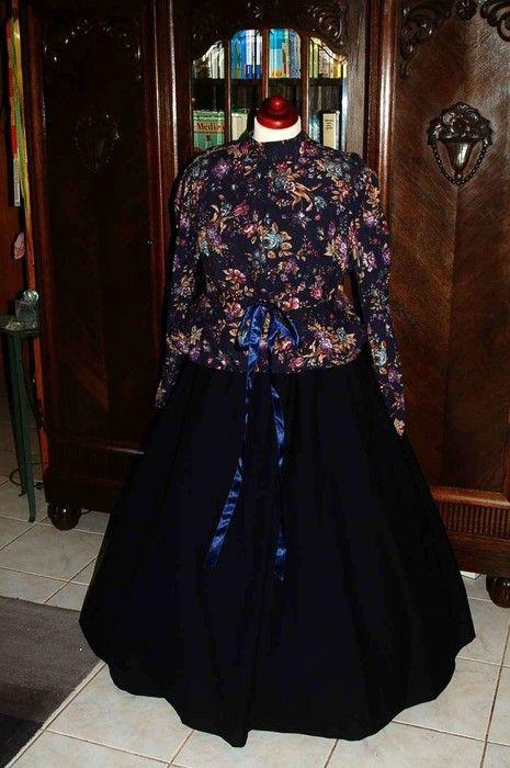 wundervolles, langes victorianisches Kleid große Größe WGT Event Fotoschooting Größe 50
