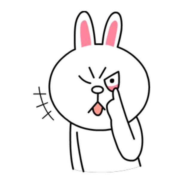 Line sticker rabbit