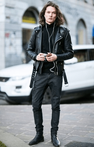 c5dc9399 Chelsea boots with a biker jacket | Design: Fashion in 2019 | Black ...