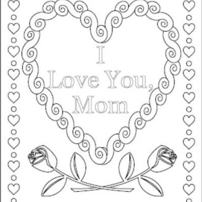 i love you coloring pages love you mommy coloring pages i love you mom - I Love You Coloring Pages