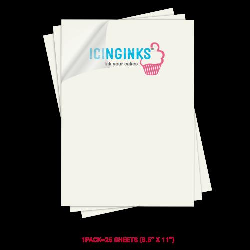 Icinginks Prime Blank Chocolate Transfer Sheets A4 Size Pack Of 25 Transfer Sheets 8 5 X Chocolate Transfer Sheets Edible Ink Printer Edible Ink Printing