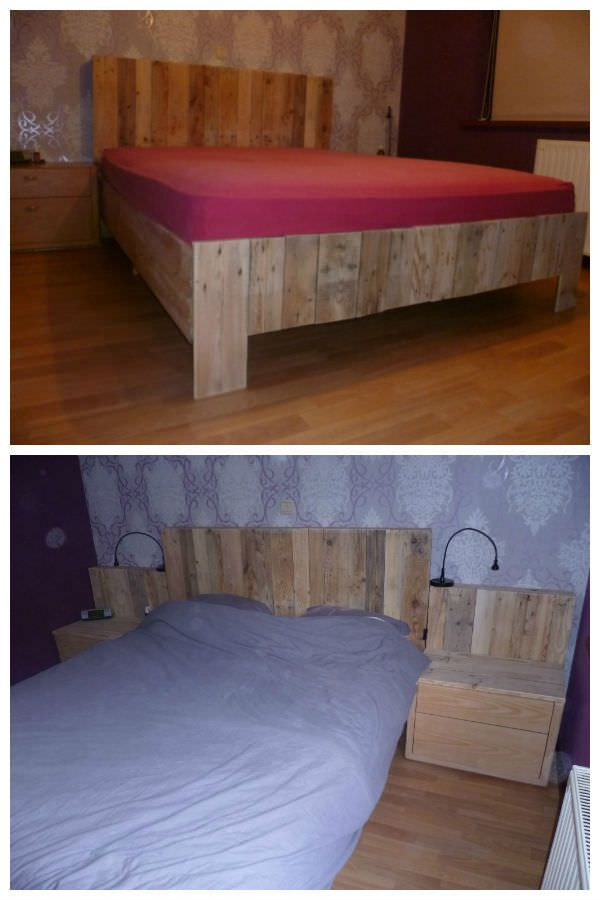 Just a bed made with recycled pallets ! Nice work ! Idea sent by degrave !…