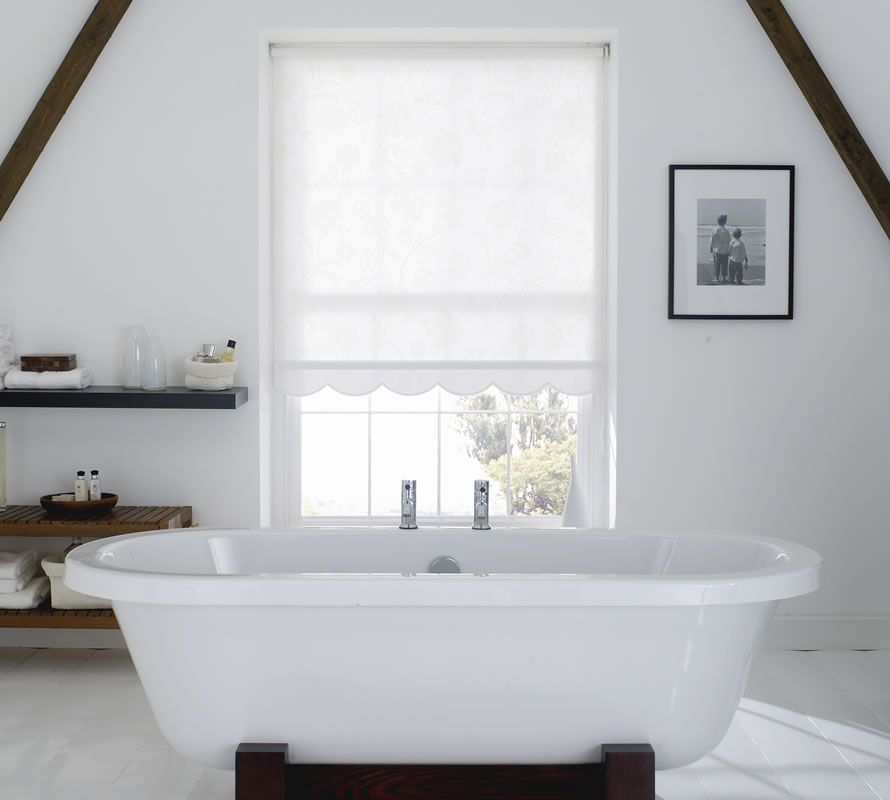 Lace Shades For Windows Bruce Blinds Roller Blinds Lace - Best blinds for bathrooms