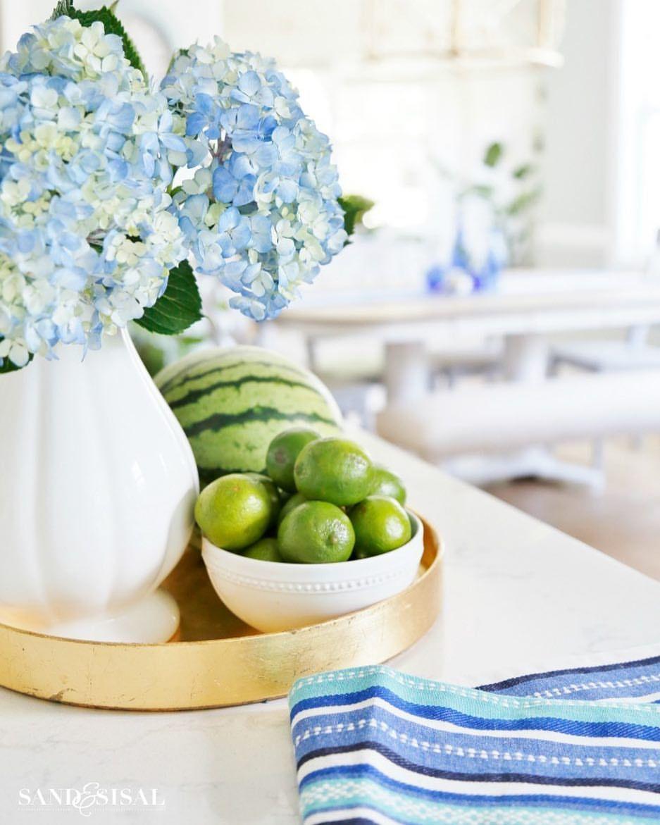 "57 Likes, 9 Comments - Kim Wilson (@sandandsisal) on Instagram: ""We're celebrating summer in the coastal kitchen today! Take the tour on the blog sandandsisal.com .…"""