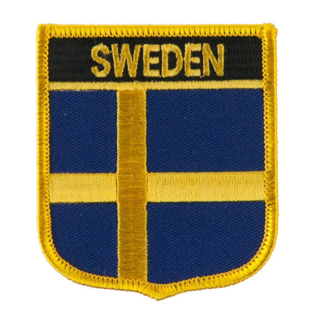 edae6d2cea0 Europe Flag Embroidered Patch Shield - Sweden