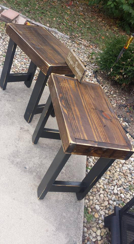 Best Rustic End Tables Set Distressed Reclaimed Wood Speaker 400 x 300