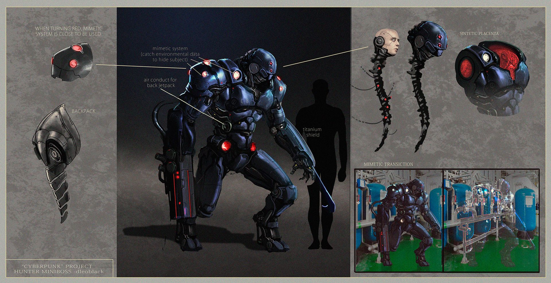 ArtStation - Cyberpunk - The Hunter, . Dleoblack
