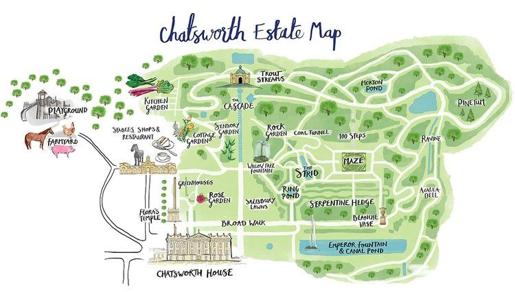Chatsworth House Map