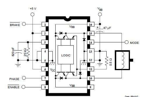 Terrific A3952S Dc Servo Motor Controller Circuit Diagram Electronic Wiring Database Ioscogelartorg