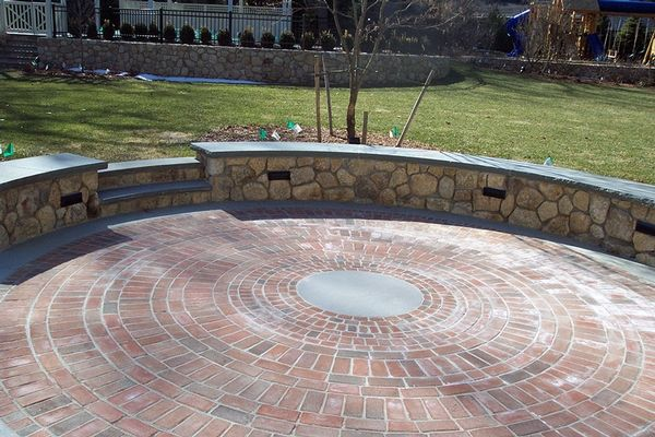 Brick Patio Wall Designs patio wall design brick patio wall designs home and design gallery concept Circular Brick Patio Google Search