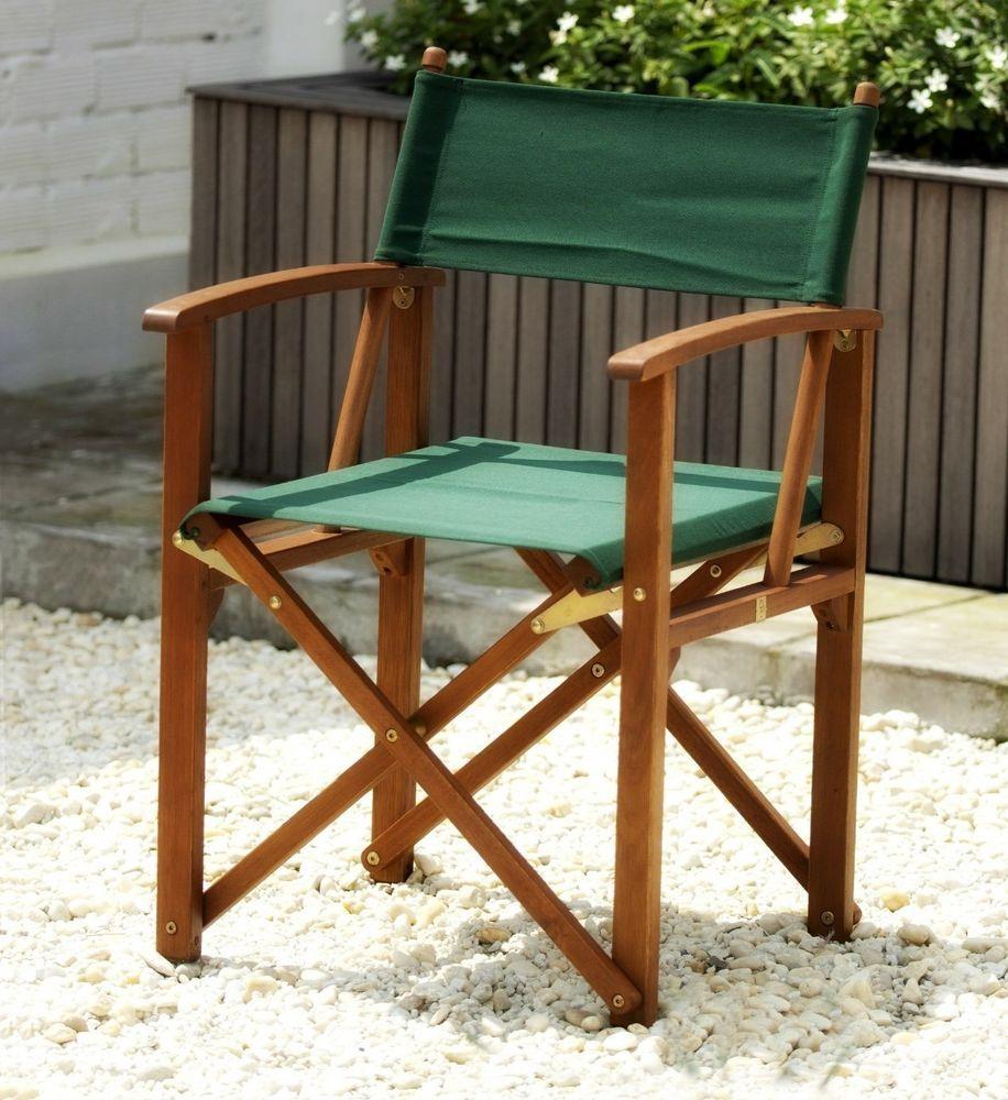 Patio Director Chair Folding Garden Seat Wooden Outdoor Chair Portable  Furniture #Patio #Director #