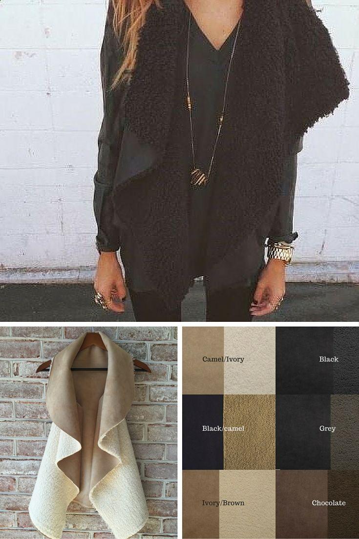 This site has the cutest stuff at great prices!!!! Faux fur vest monogrammed vest fur vests reversible bohemian style