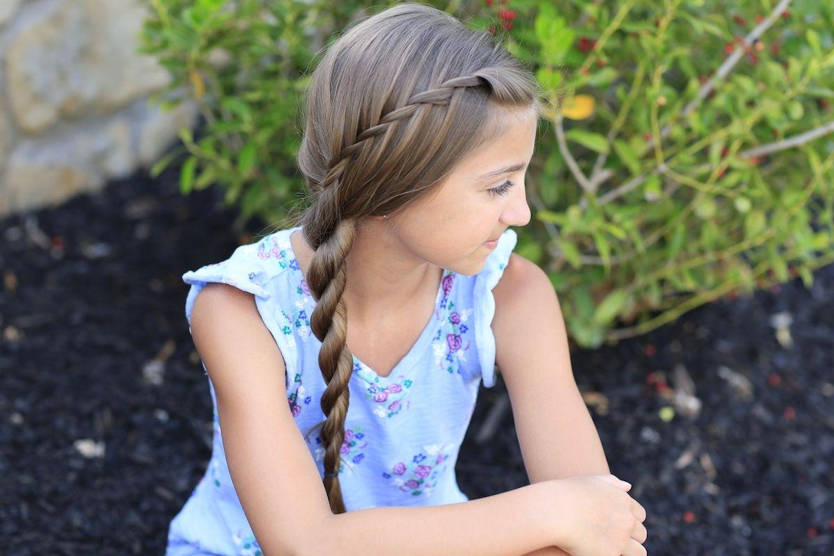Waterfall twist into rope braid cute girls hairstyles cgh