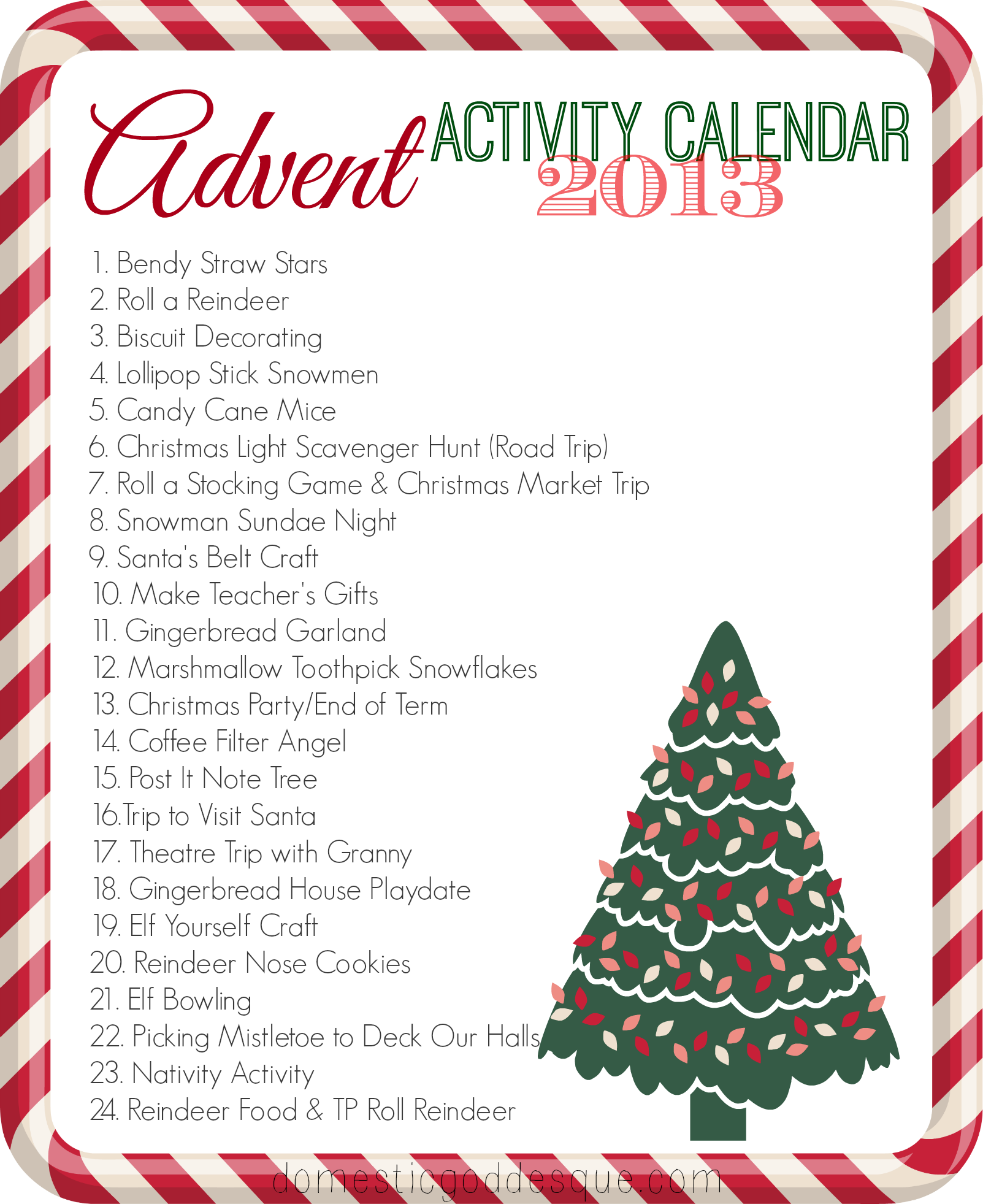 Our  Advent Activity Calendar Post With Current Links Live On
