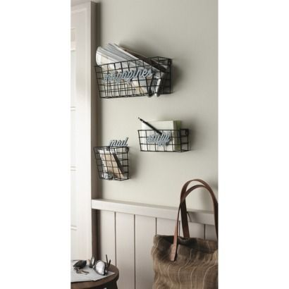 Metal Wall Holder Set Silver Metal Wall Basket Baskets On Wall Metal Walls
