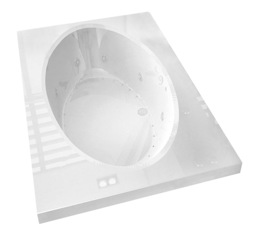 Imperial 6 ft. Acrylic Drop-in Left Drain Rectangular Whirlpool and ...