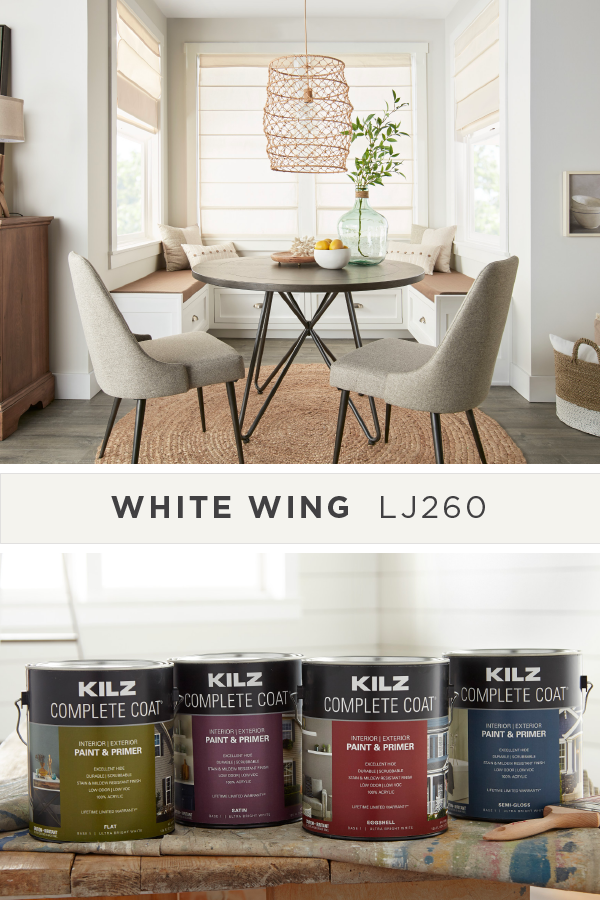 The Key To Making Any Interior Space Feel More Open And Bright Is With A New Coat Of White Wing From Kilz Complete C Picnic Table Plans Table Plans White Wings