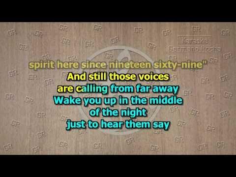 Eagles Hotel California Acoustic Version Karaoke Youtube