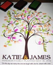 trends for wedding guestbooks | Fingerprint Guestbooks - Wedding Trends - Etsy | Ashley wedding ideas