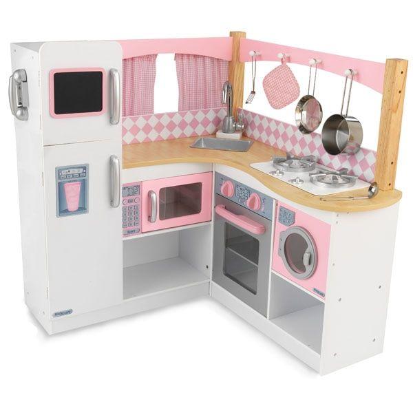 la grande cuisine dangle en bois rose cuisine pour enfantcuisines - Fabriquer Une Cuisine En Bois Pour Enfant