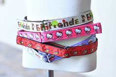 DIY toddler belts with velcro and ribbon!  (tutorial)...thinking you may be able to do this as pet collars