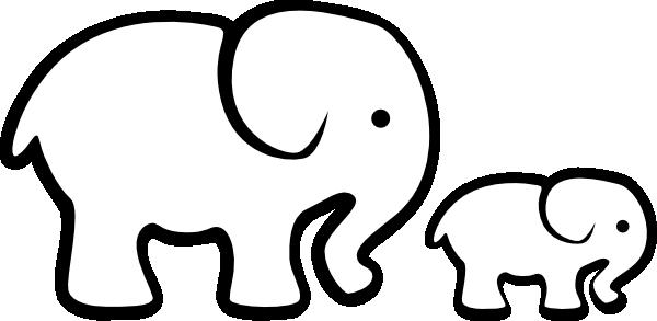 White Elephant Mom Baby Hi Png 600 293 Elephant Clip Art Elephant Stencil Elephant Tattoos
