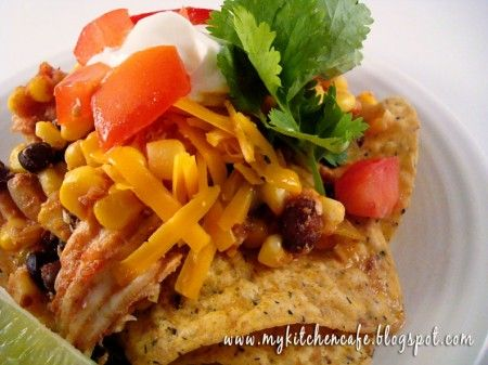 Slow Cooker Southwest Chicken Stacks