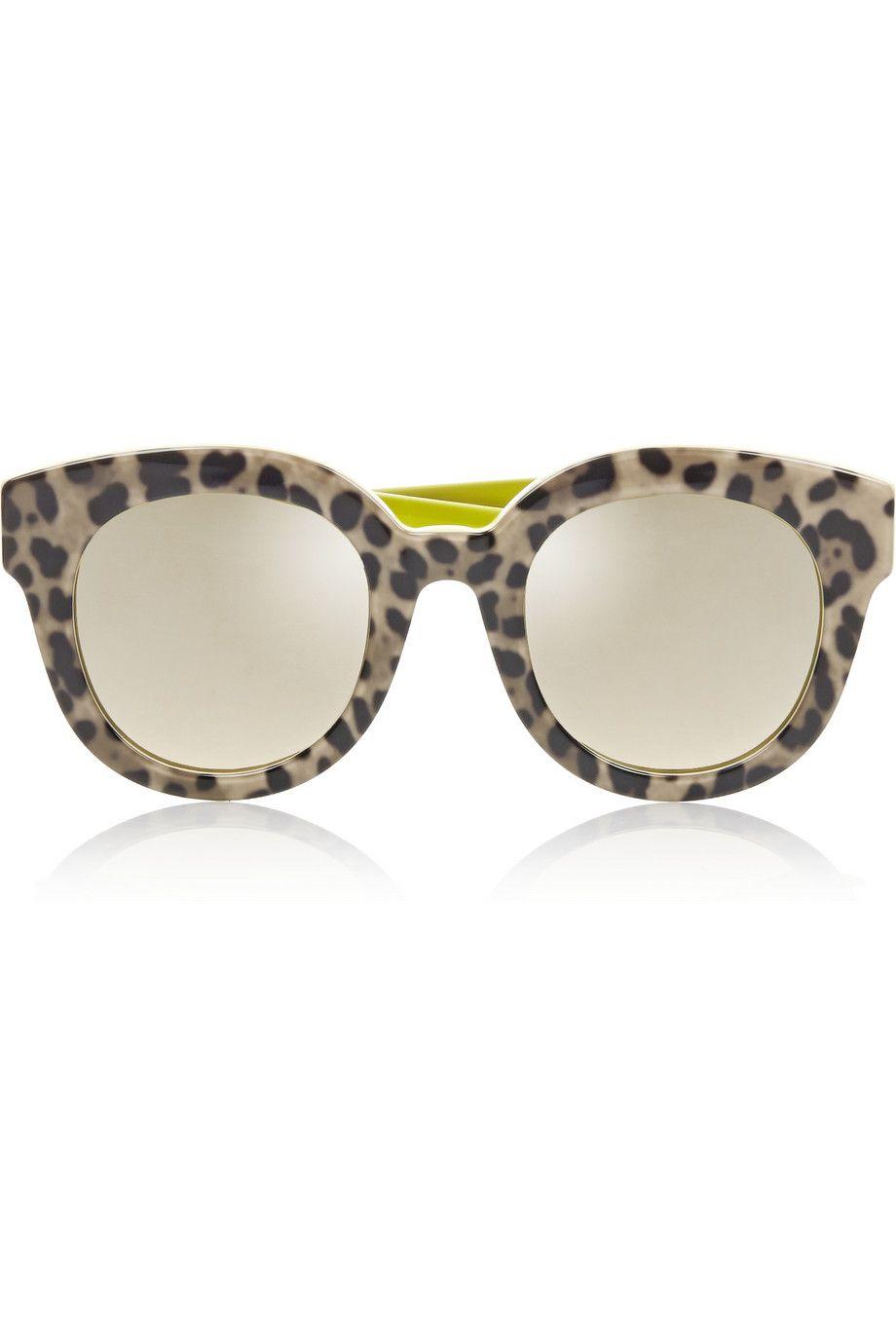 dc1e88ca494e Dolce & Gabbana | Leopard-print cat eye acetate mirrored sunglasses |  NET-A-PORTER.COM