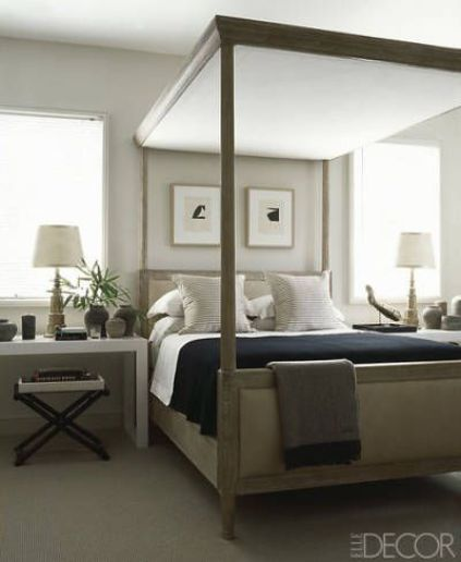 Randall Powers guest bedroom via Elle Decor