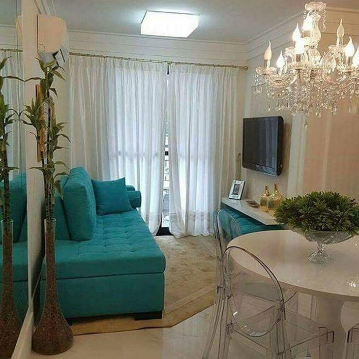 Lustres para sala pequena 40 modelos e dicas para for Modelos de apartamentos pequenos modernos