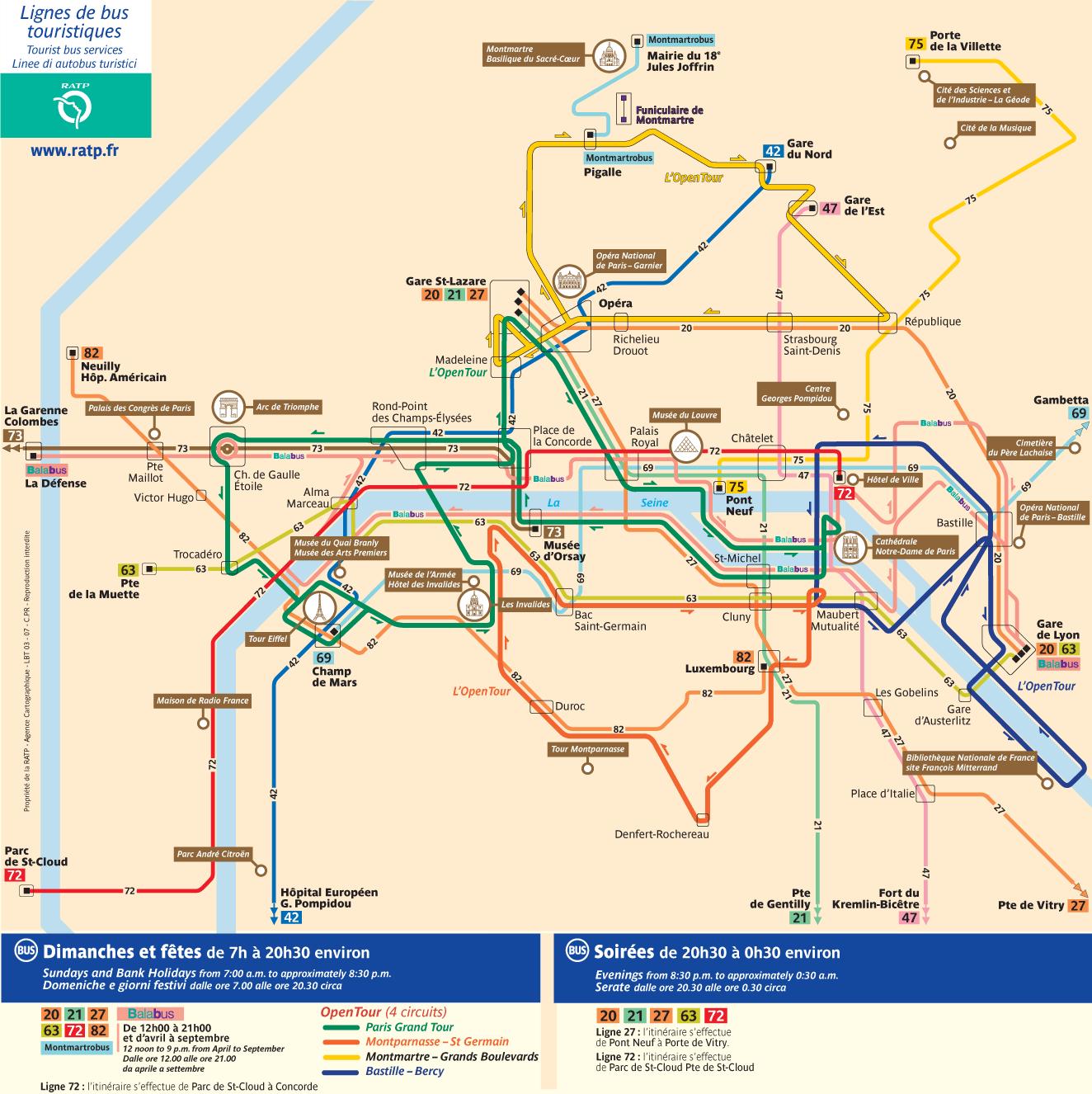 paris tourist bus map paris travel bus map paris attractions map new zone
