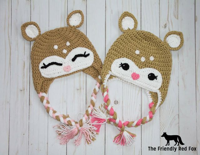 Little Deer Hat Pattern - The Friendly Red Fox | Crochet and ...
