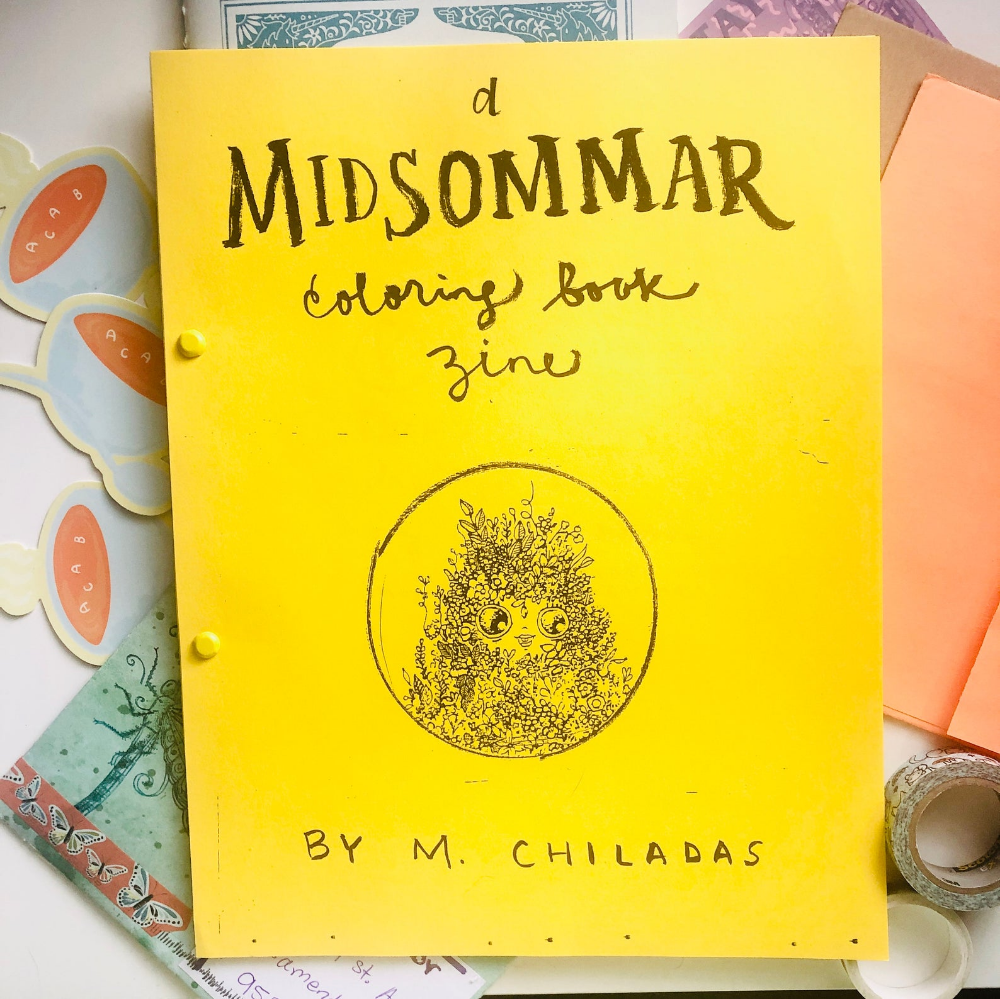 Midsommar Coloring Book Zine Etsy Coloring Books Mini Drawings Zine