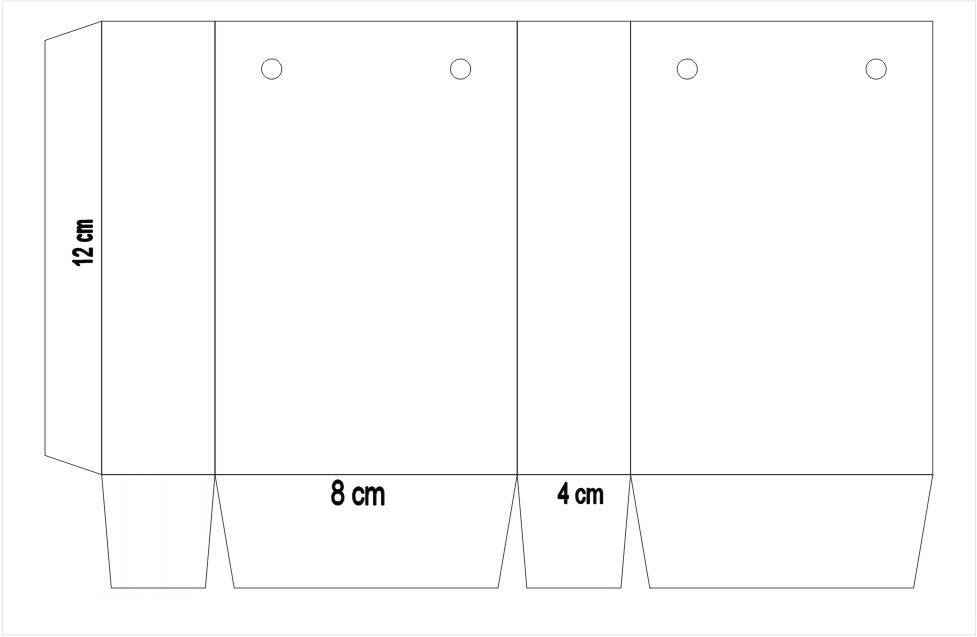 56f238cbd cómo hacer bolsas de papel | Cajitas | Hacer bolsas de papel ...