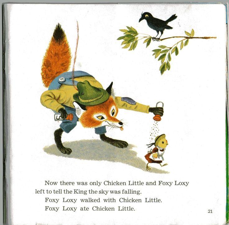 Image result for chicken little illustrations vintage