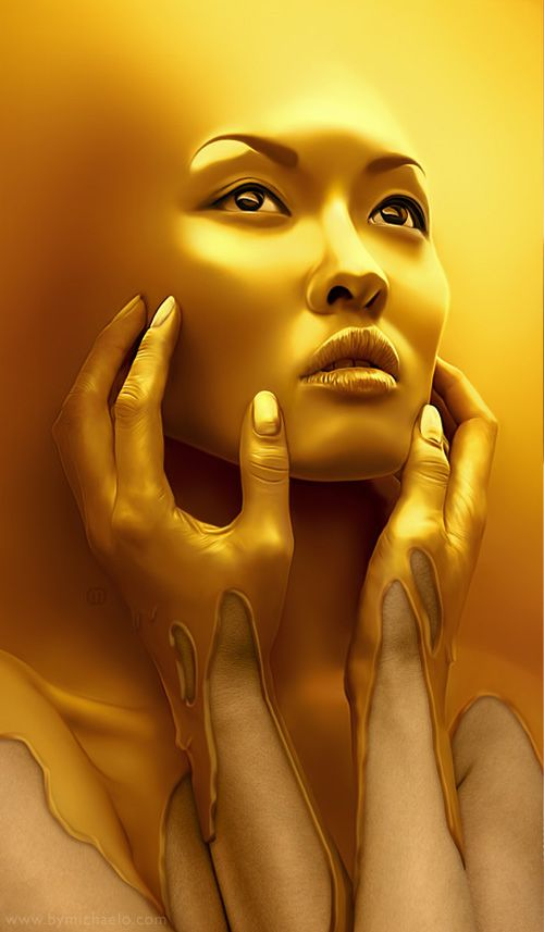 """Gold Rush"" digital art by Michael Oswald"
