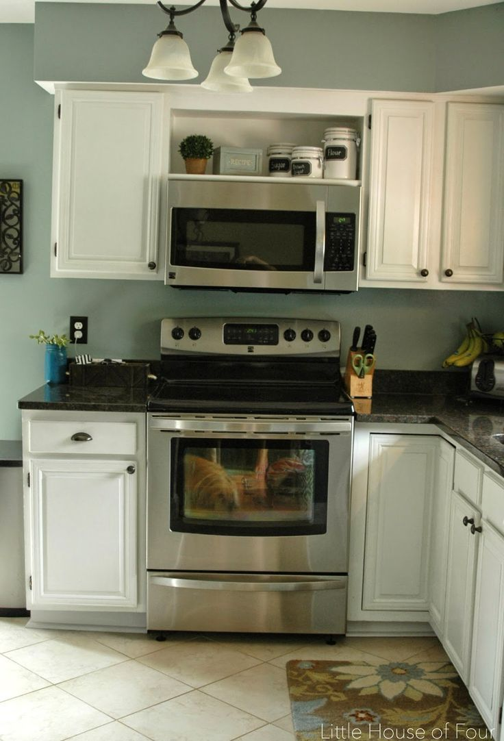 Image Result For Open Cabinet Over Microwave Microwave In Kitchen Open Kitchen Cabinets New Kitchen