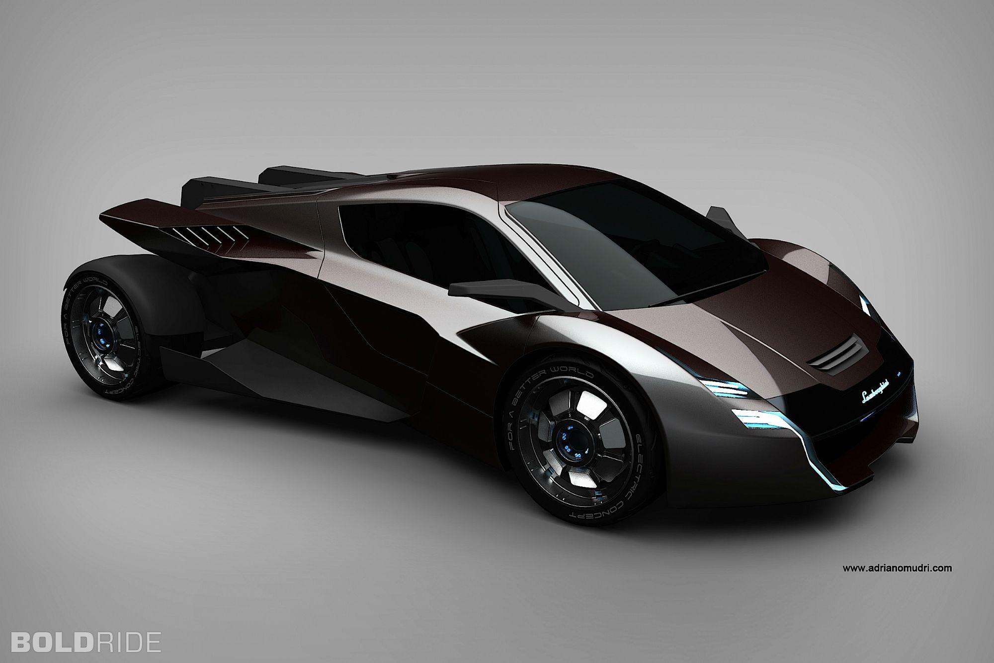 Lamborghini Electric Concept By Adriano Mudri Diesel Punk