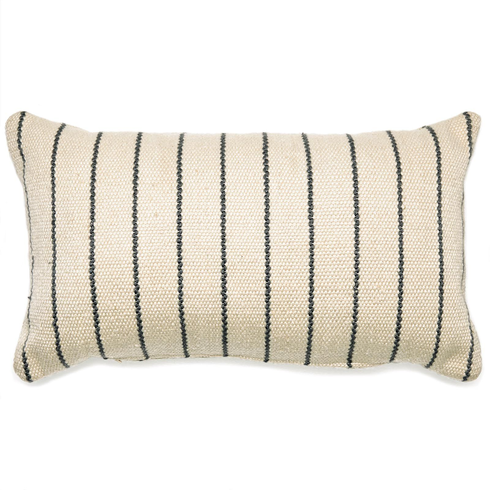 Modrn Stripe Outdoor Throw Pillow 22l X 22w Gray Ivory
