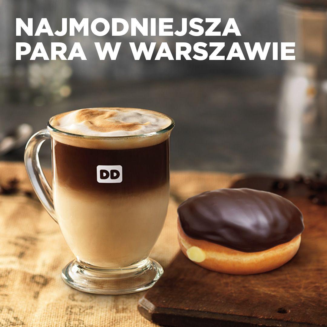 Najmodniejsza para w Warszawie! Nowość wśród kaw od DD odnalazła swoją drugą połówkę w amerykańskim klasyku. Słodko! #donutslovecoffee #dunkindonutspoland