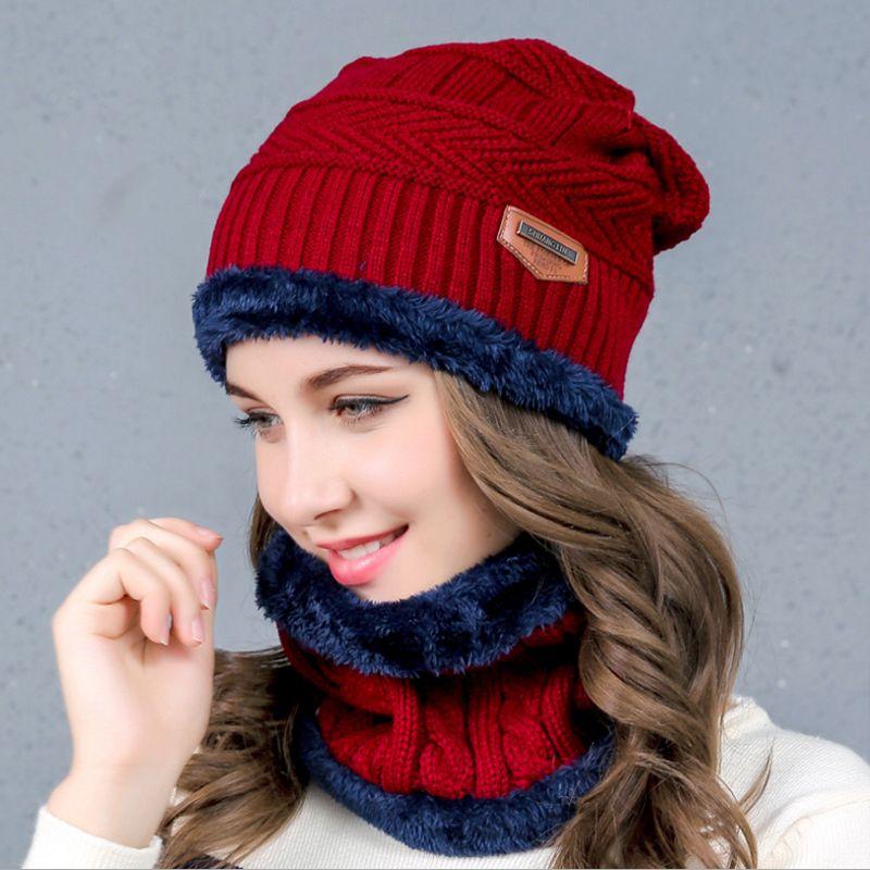 Sombrero bufanda cuello más caliente invierno sombreros para hombres mujeres  skullies gorros warm fleece Cap 6 colores Price  118.43   FREE Shipping    ... 86ade0b25a0