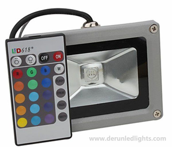 Remote control led flood light RGB light ,