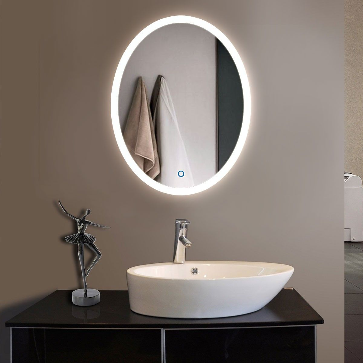 Beautiful Oval Vanity Mirrors for Bathroom