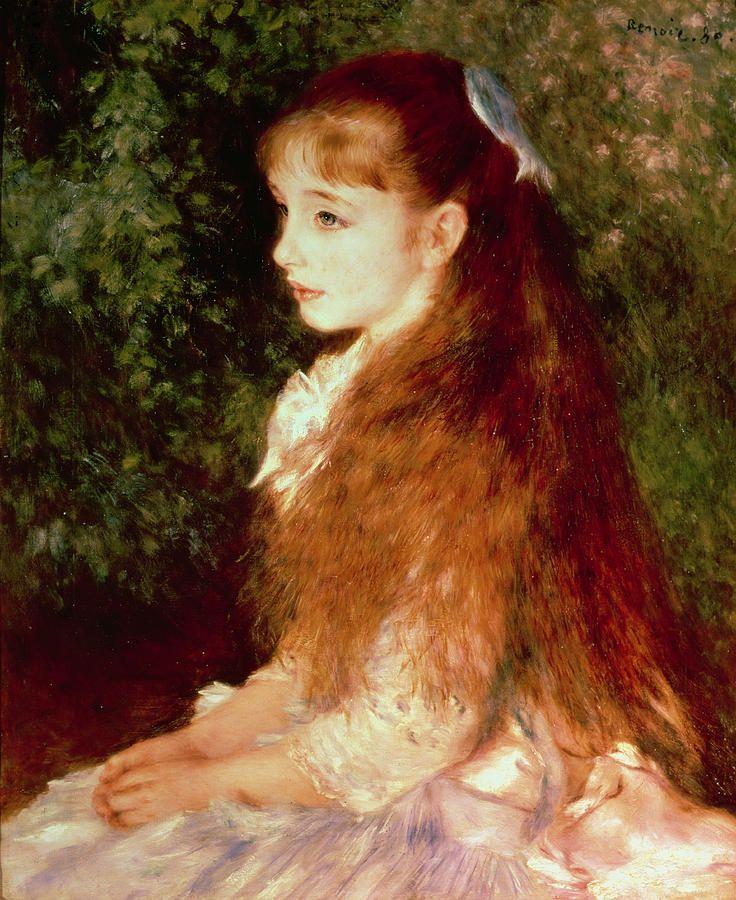 Portrait of Mademoiselle Irene Cahen d'Anvers - Pierre Auguste Renoir