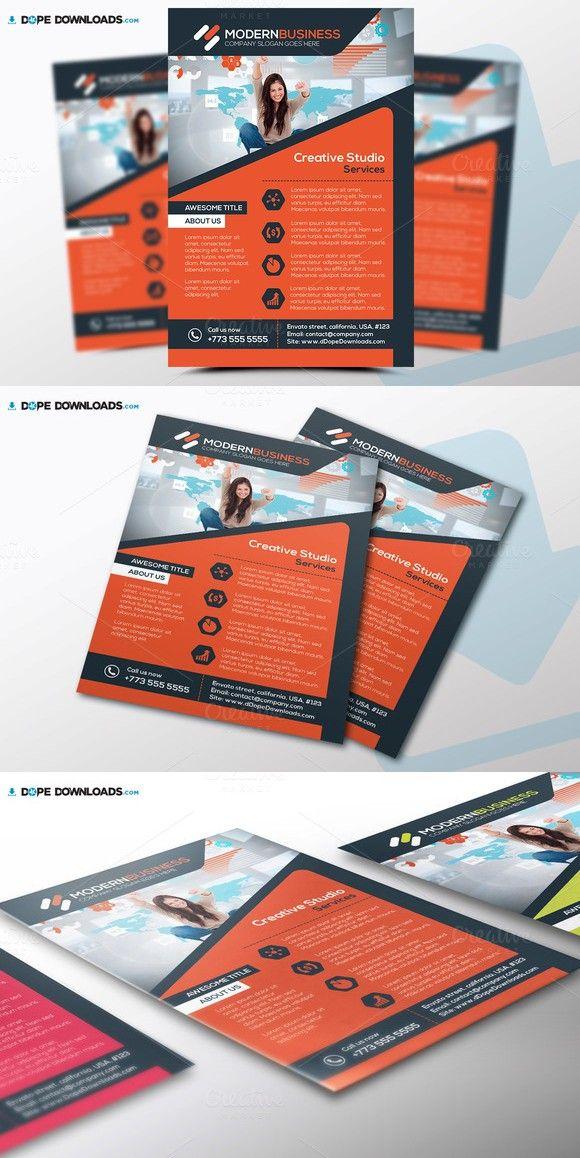 Modern Business Flyer Template Flyer template, Business