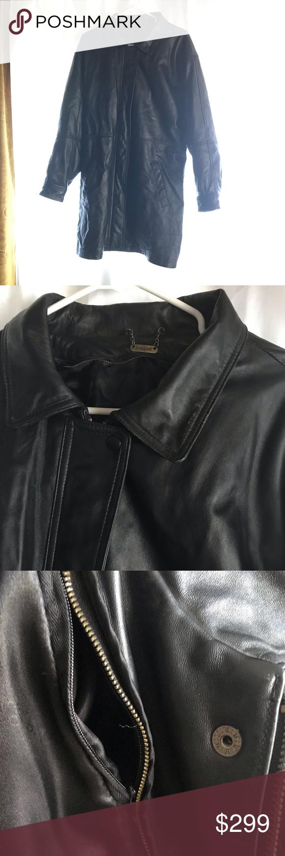 Matrix Genuine Leather Long Jacket Concealed Carry Long