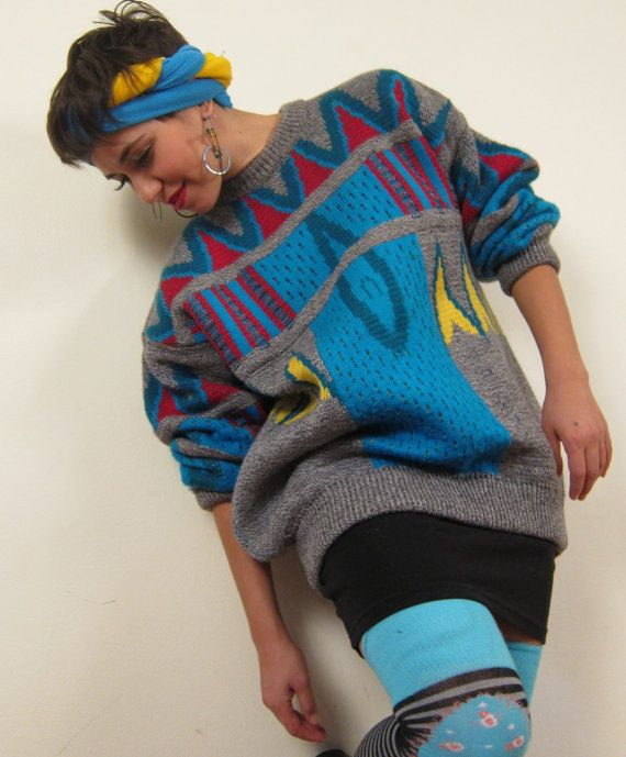 Vintage 1980s Sweater Coogi Sweater Oversized by